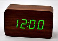 Настольные часы с зеленой подсветкой VST-863-4