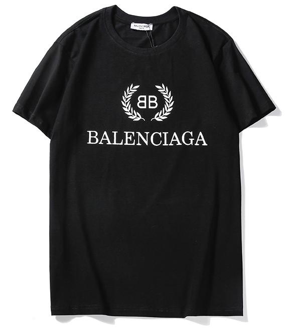 Футболка Balenciaga чёрная (с оригинальным логотипом баленсиага мужская женская)
