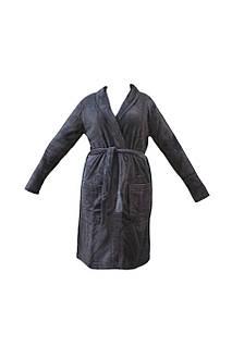 Мужской халат miomare средней длины XL (56/58) Темно-серый (K12-550008)