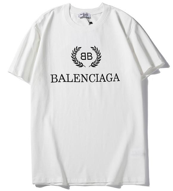 Футболка Balenciaga белая (с оригинальным логотипом баленсиага мужская женская)