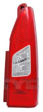 Ліхтар задній правий Citroën Berlingo II / Peugeot Partner II (1дв, дорестайл) 2008 - 2012 зовнішній, червоно-білий, (TYC, 11-11379-01-2) OE 6351FH - шт.