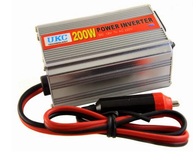 Інвертор перетворювач UKC CAR AC/DC 200Вт, 12В