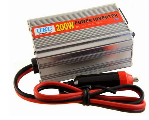 Інвертор перетворювач UKC CAR AC/DC 200Вт, 12В, фото 2