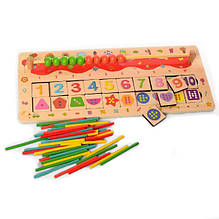 Дерев'яна іграшка Набір першокласника MD 2183 (Лічильні палички MD 2183-1)