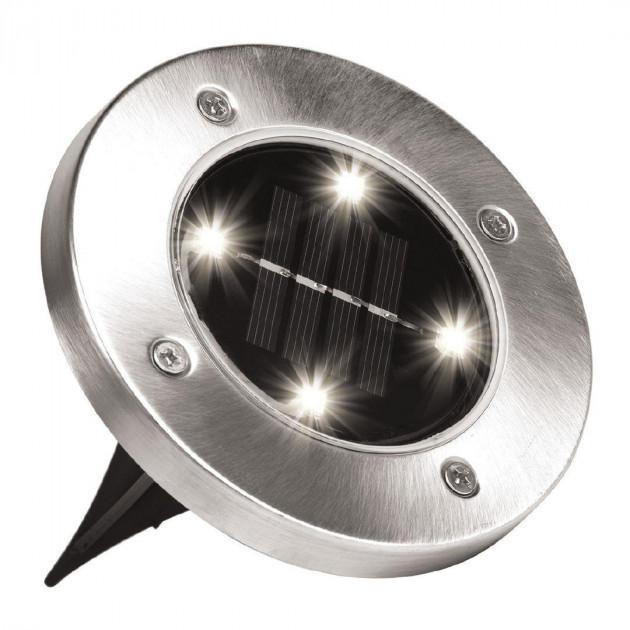 Садовый светильник на солнечной батарее Solar Disk Lights 4 LED DL14 (4  шт)