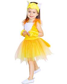 Лисичка. Комплект - платье, головной убор, перчатки (84101)