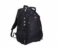Универсальный рюкзак Swissgear Men Bag 8810 39 л с USB выходом + дождевик Черный (56834)