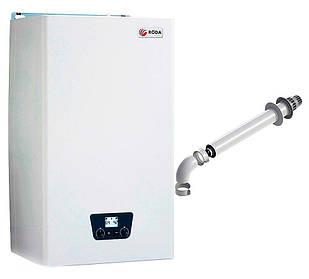 Газовий котел Roda Micra Duo CS 24, 2-контурний, закрита камера згоряння, для 300 кв. м, з коаксіальним димарем