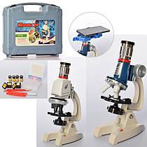 Дитячий мікроскоп з підсвічуванням в кейсі, з металевими вставками, C2170-C2171