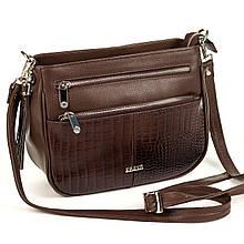 Женская сумка кросс-боди Karya 2135-501 кожаная коричневая