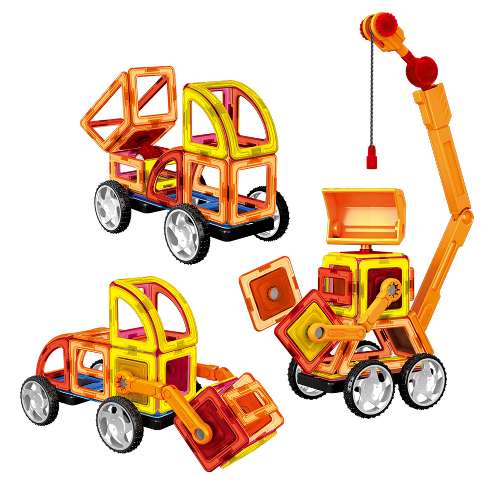 Магнитный конструктор Стройтехника Magnistar LT6001 Limo toy 87 деталей