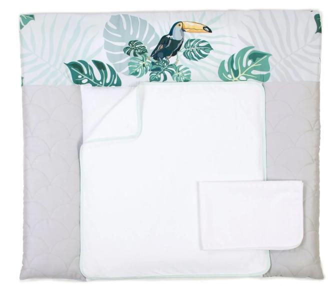 Пеленальный матрас для новорожденных Veres Tropic baby тканевый 72х80 см