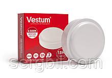 Світлодіодний круглий світильник ЖКГ Vestum 15W 4500K 220V 1-VS-7103