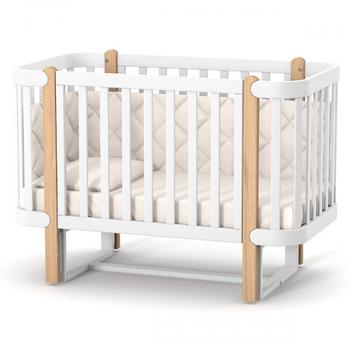 Детская кроватка Верес Соня Монако ЛД5 с маятниковым механизмом Бело-Буковая