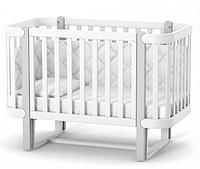 Детская кроватка Верес Соня Монако ЛД5 с маятниковым механизмом Бело-Серая