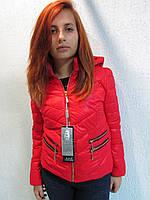 Куртка осенняя женская 805 красная код 644а