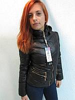 Куртка осенняя женская 805 черная код 645а
