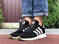 Мужские кроссовки Adidas 9760 чёрные с белым, фото 1