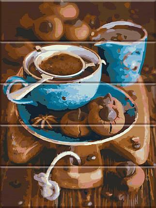 ASW026 Раскраска по номерам на деревянной основе Вкус кофе, В картонной коробке, фото 2