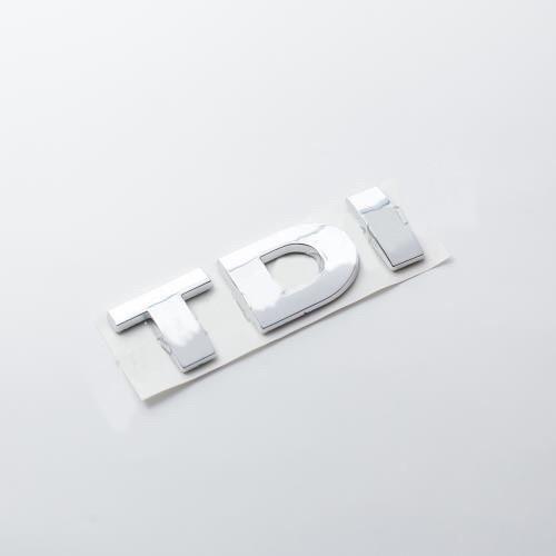 Логотип TDI 3 хромированные буквы
