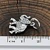 Серебряный кулон с чернением Слоник размер 16х16 мм вес 1.97 г, фото 2