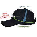 Мужская бейсболка Adidas кепка черная Адидас 100% Коттон Турция Модная Брендовая Стильная реплика, фото 4