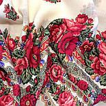 Розовый сад 1901-1, павлопосадский платок шерстяной с шерстяной бахромой, фото 10