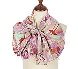 Шарф шелковый (крепдешин) 10105-3, павлопосадский шарф шелковый крепдешиновый с подрубкой, фото 2