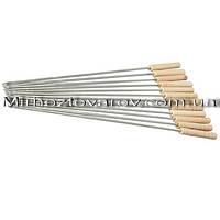 Шампур плоский с деревянной ручкой 600*2 мм