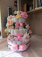 Изготовление торта из подгузников (памперсов) предоставленных заказчиком