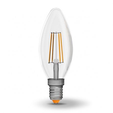 LED лампа Filament VIDEX C37 4W E14 4100K 220V 510lm диммерная