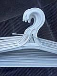 Плечики  вешалки для верхней одежды белые, фото 2