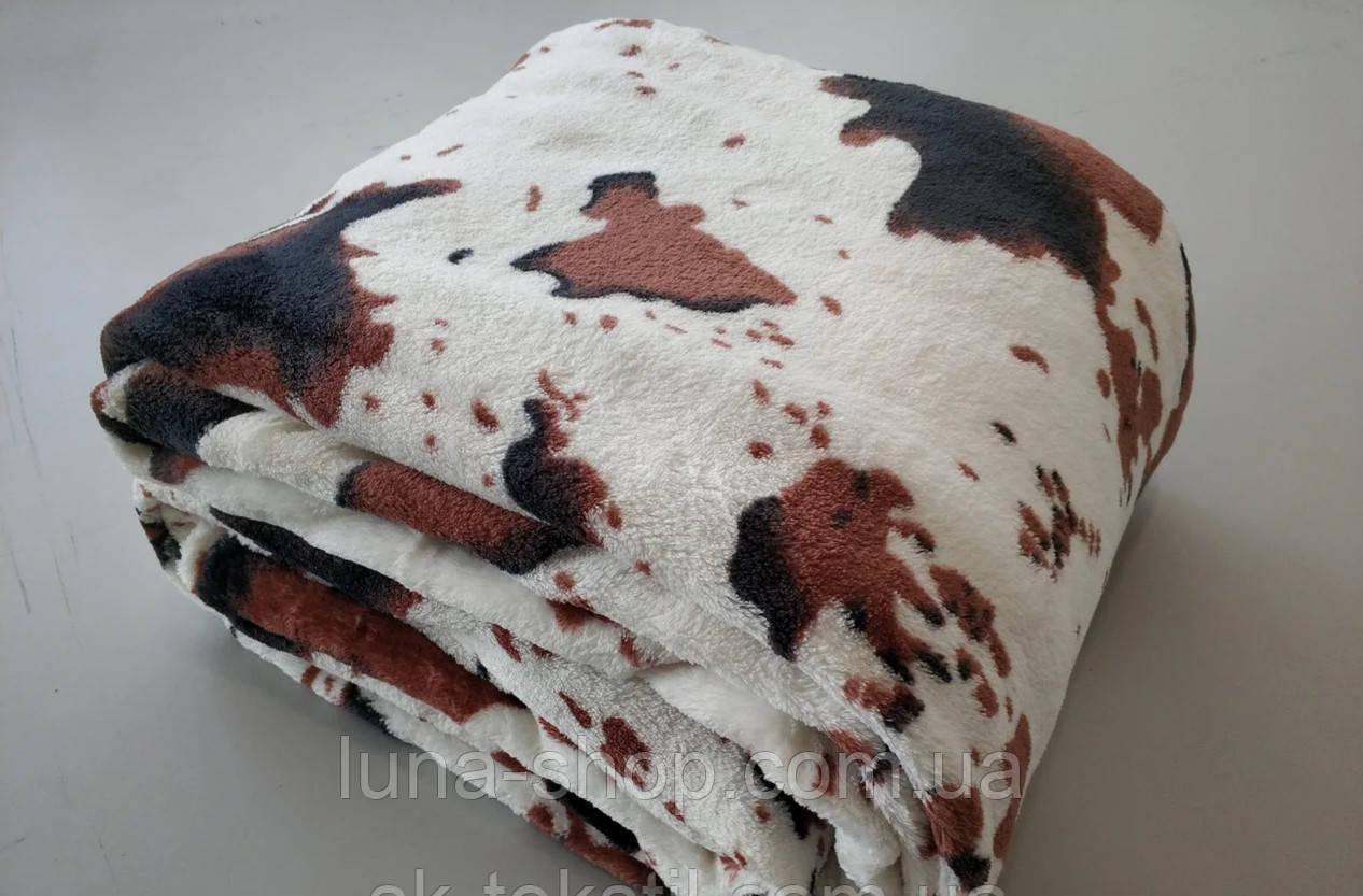 Плед из микрофибры Корова, 160*210, 200*220, Польша