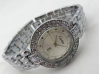 Стильные женские часы Cartier - цвет серебро