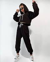 Стильный женский спортивный костюм с коротким топом Разные цвета
