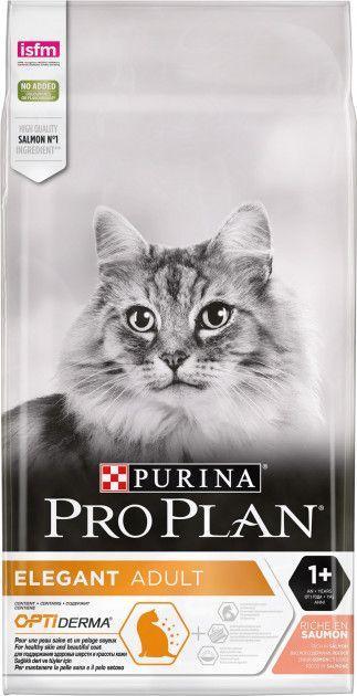Сухой корм для кошек Purina Pro Plan Elegant с лососем 10 кг - Уточняйте наличие