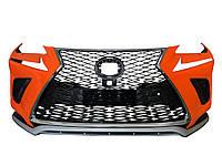 Lexus NX Бампер з гратами в дизайні 2017-2021 (2014-2017)