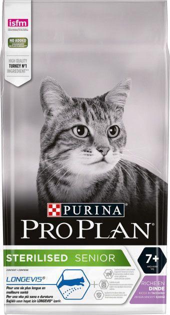 Сухой корм для кошек Pro Plan Sterilised Senior с индюком 10 кг - Уточняйте наличие