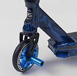Трюковый Самокат Best Scooter Bac Flip, ПЕГИ, алюминиевый диск и дека с Принтом, фото 3