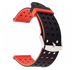 Подвійний ремінець Primo з перфорацією для годин Samsung Galaxy Watch 3 45mm (SM-R840) - Black&Red
