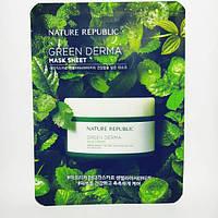 Тканевая маска для лица с экстрактом центеллы NATURE REPUBLIC GREEN DERMA MASK SHEET