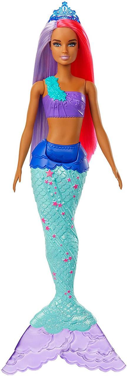 Кукла Барби Русалочка Оригинал с фиолетово-красными волосами Barbie Dreamtopia Mermaid (GJK09)
