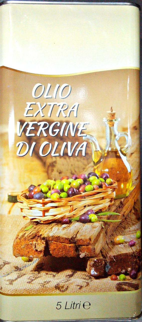 Итальянское оливковое масло первого холодного отжима 5Л в ж/банке
