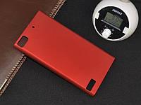 Чохол накладка на бампер для BlackBerry Z3 бордовий, фото 1