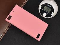 Чехол накладка бампер для BlackBerry Z3 розовый, фото 1