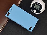 Чехол накладка бампер для BlackBerry Z3 голубой, фото 1