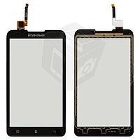 Сенсорный экран (touchscreen) для Lenovo A590, черный, оригинал