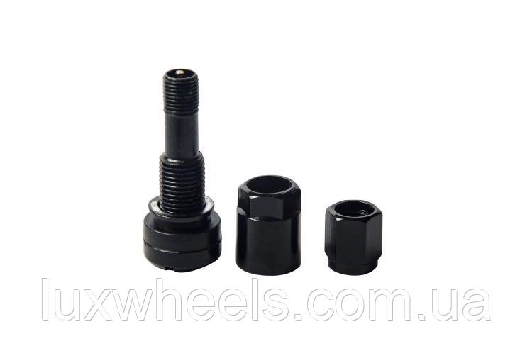 Ниппель, вентиль легковой разборный, цвет черный (под датчик)