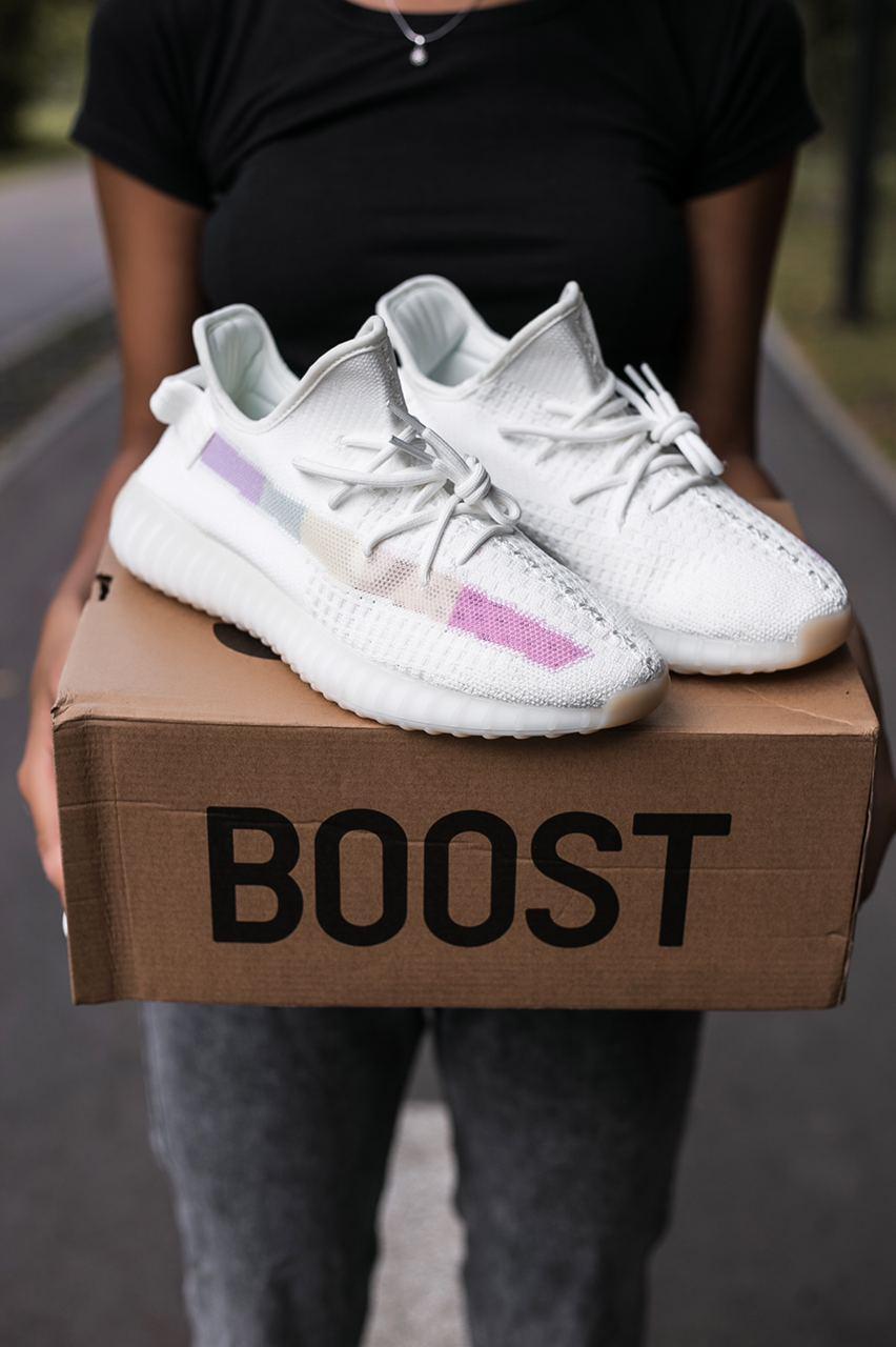 🔥 Кроссовки женские Adidas Yeezy 350 Rainbow (адидас изи буст 350 реинбоу)