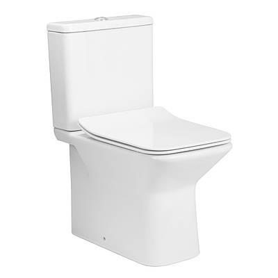 Унітаз компанкт Rectangular з сидінням Slim slow-closing Volle Leon 13-11-059 білий
